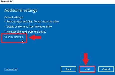 howchange additional settings