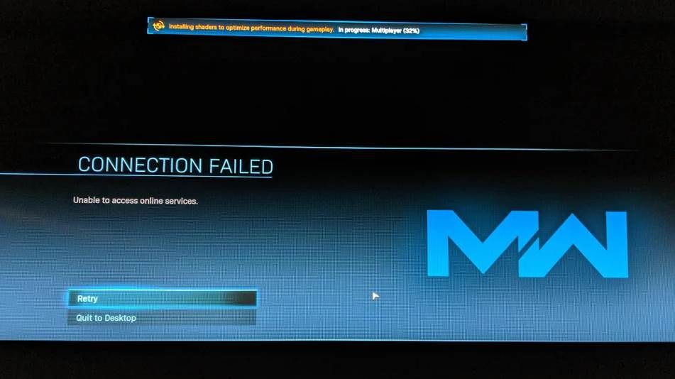 image connection failed error of mw in pc