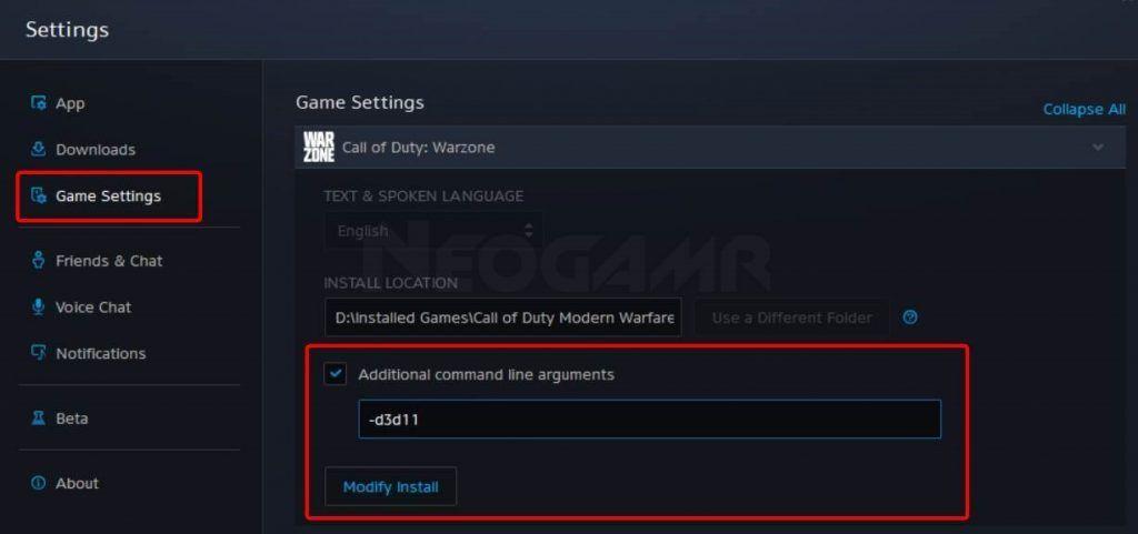 image of battle. net client settings