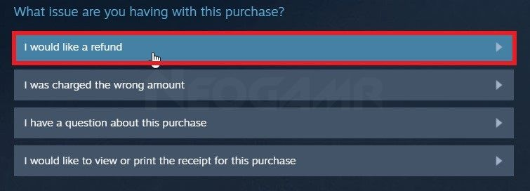 image of steam support issues form