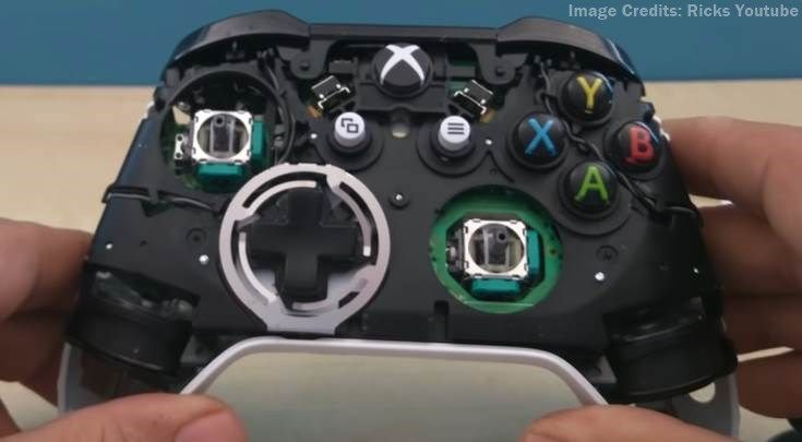 image of xbox one controller opened up