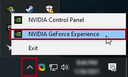 opening Geforce Experience