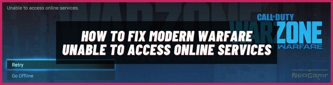 unable to access online services modern warfare
