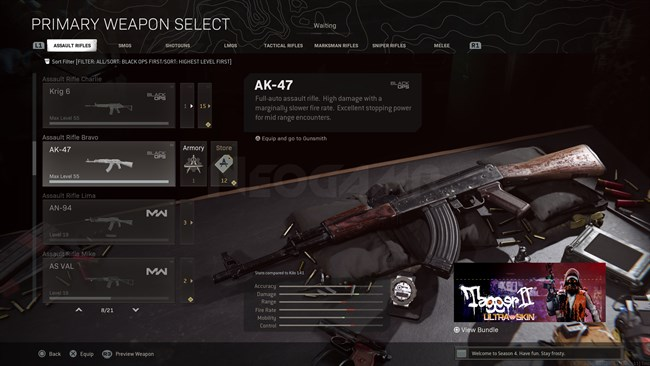 Image of AK 47 Cold War In Call of Duty Warzone