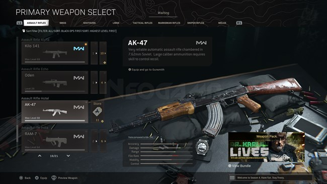 Image of AK 47 MW In Call of Duty Warzone