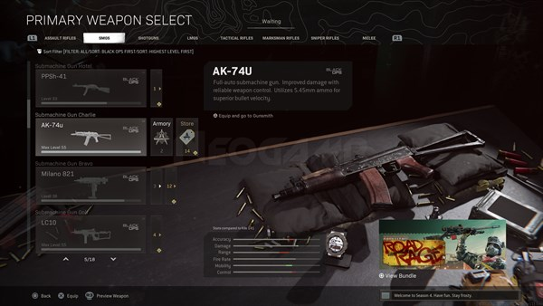 Image of AK 74u In Call of Duty Warzone