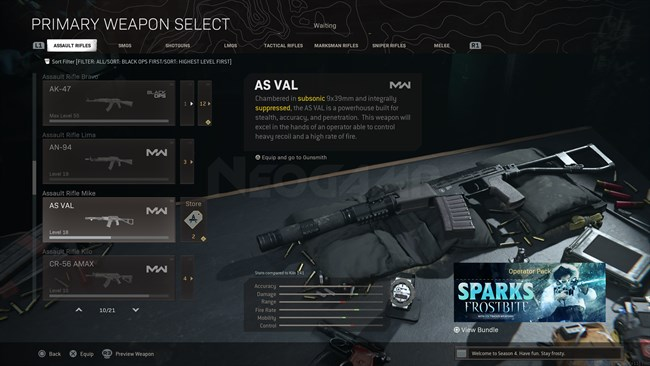 Image of AS VAL In Call of Duty Warzone