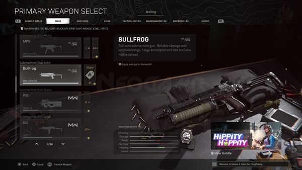 Image of Bullfrog In Call of Duty Warzone