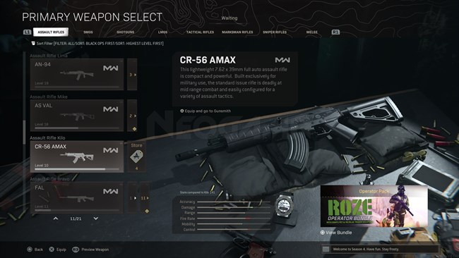 Image of CR 56 AMAX In Call of Duty Warzone
