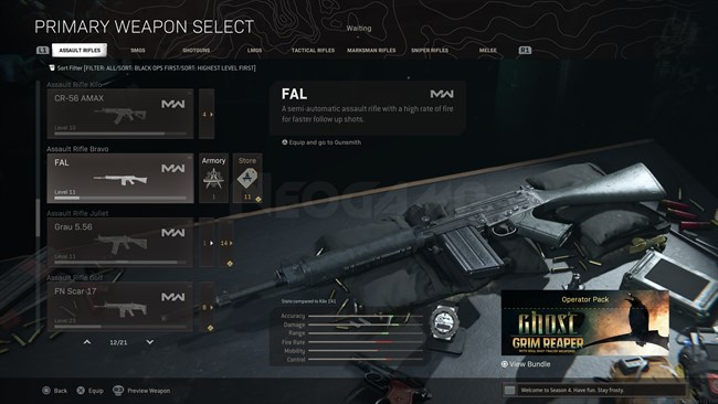 Image of FAL In Call of Duty Warzone
