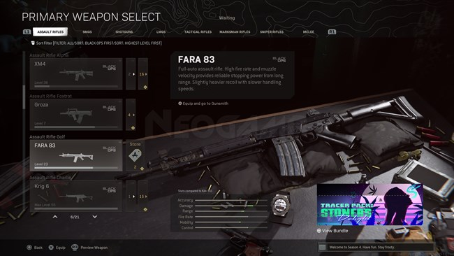 Image of FARA 83 In Call of Duty Warzone