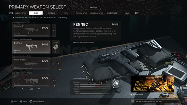 Image of FENNEC In Call of Duty Warzone