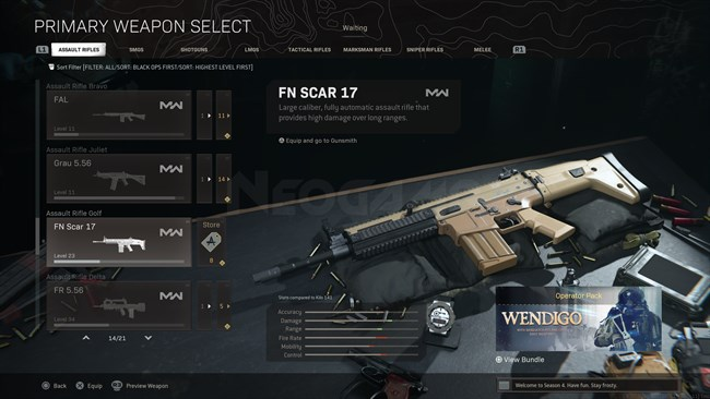 Image of FN SCAR 17 In Call of Duty Warzone