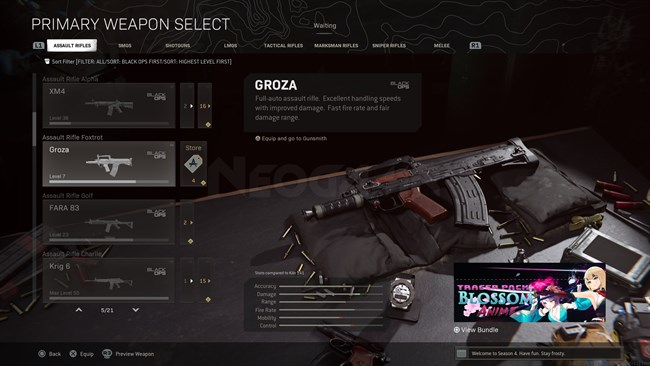 Image of GROZA In Call of Duty Warzone