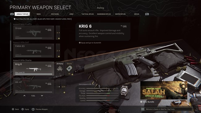 Image of KRIG 6 In Call of Duty Warzone