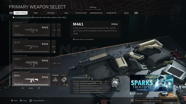 Image of M4A1 In Call of Duty Warzone