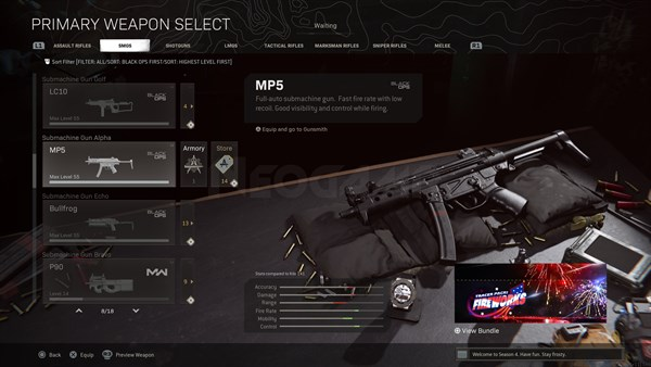 Image of MP5 Cold War In Call of Duty Warzone