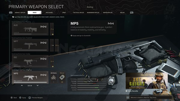 Image of MP5 MW In Call of Duty Warzone