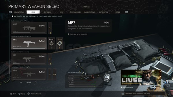 Image of MP7 In Call of Duty Warzone
