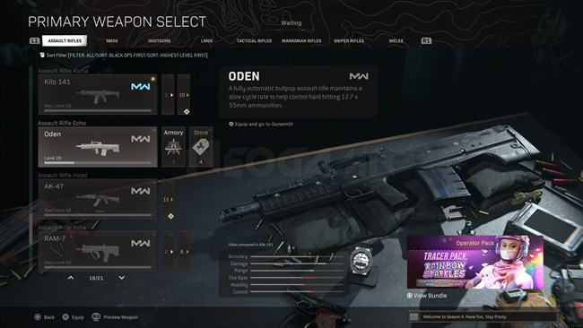 Image of ODEN In Call of Duty Warzone