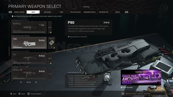 Image of P90 In Call of Duty Warzone