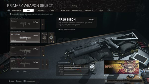Image of PP19 Bizon In Call of Duty Warzone