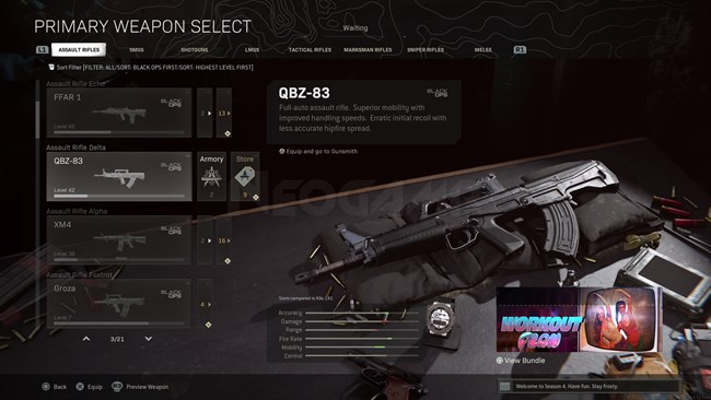 Image of QBZ 83 In Call of Duty Warzone