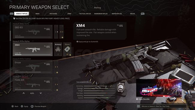 Image of XM4 In Call of Duty Warzone