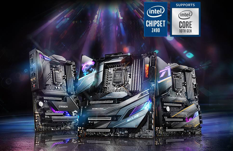 Image of intel z490 motherboards