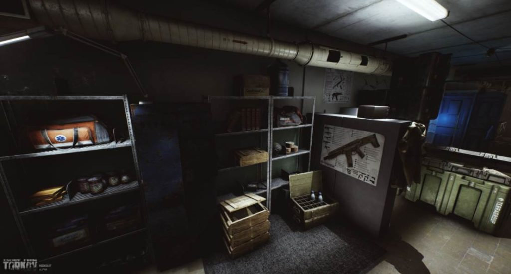 Image of the hideout in Escape from tarkov