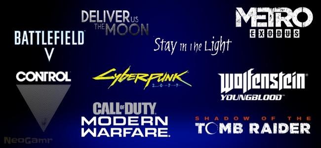 Logos of nine Video Games