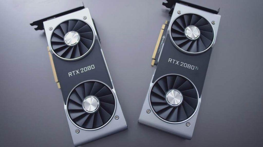 image of rtx 2080 and 2080 ti gpu